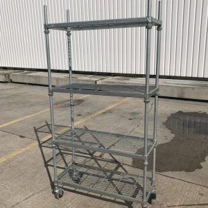 4 Tier Rack/ Trolley 91cmW x 38cmD x 180cmH