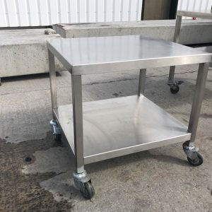 Stainless Steel Table/ Stand 61cmW x 54cmD x 58cmH
