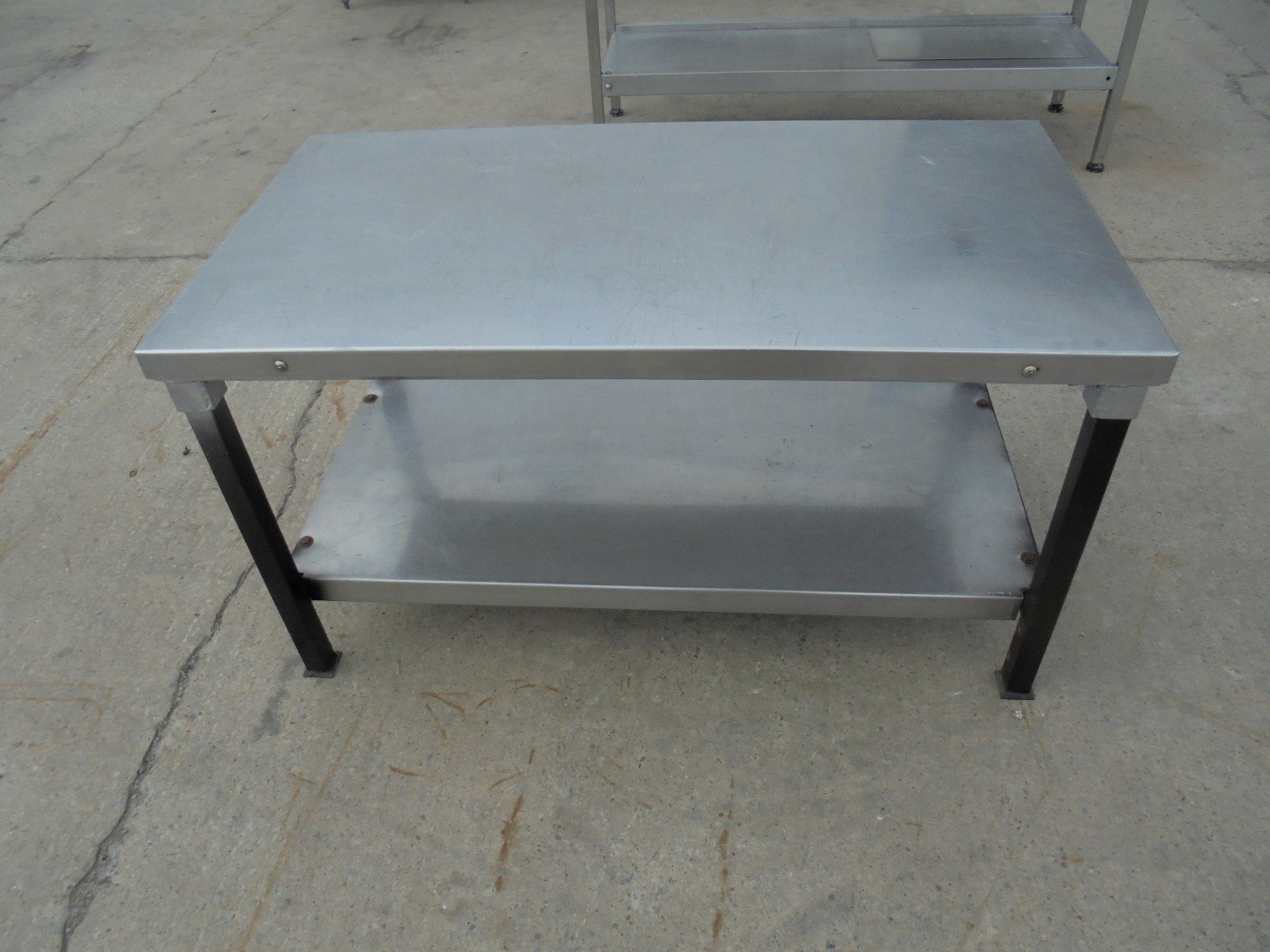Stainless Steel Low Table Stand 115cmw X 61cmd X 64cmh