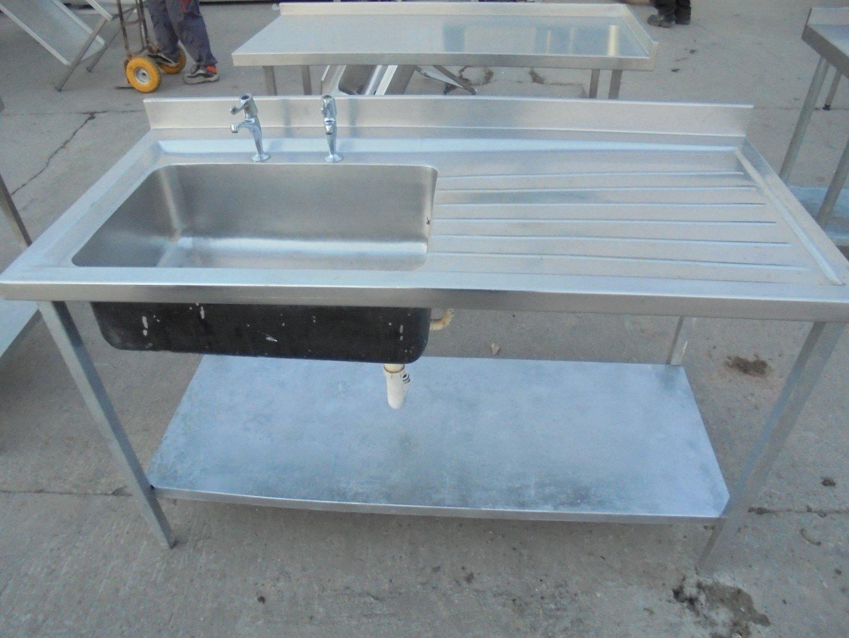 Used Stainless Steel Single Bowl Sink 152cmW x 70cmD x 90cmH – H2 ...