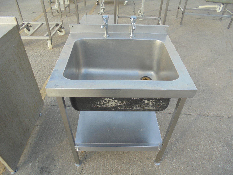 Used Stainless Steel Single Bowl Sink 73cmW x 65cmD x 83cmH – H2 ...