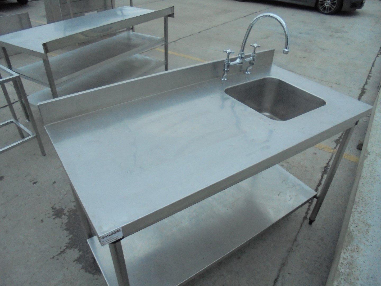 Used Stainless Steel Single Bowl Sink 140cmW x 70cmD x 92cmH – H2 ...