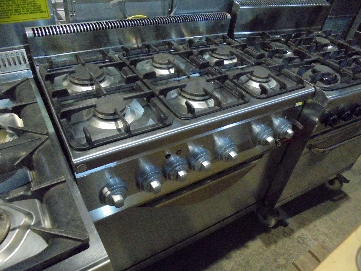 GGM Gastro Dual Fuel 6 Burner Range Cooker/ Oven 90cmW x 60cmD x 90cmH