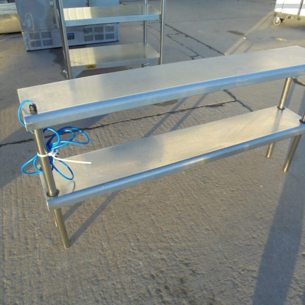 Used Plate Warmer ~ Used stainless steel heated gantry pass hot lights plate