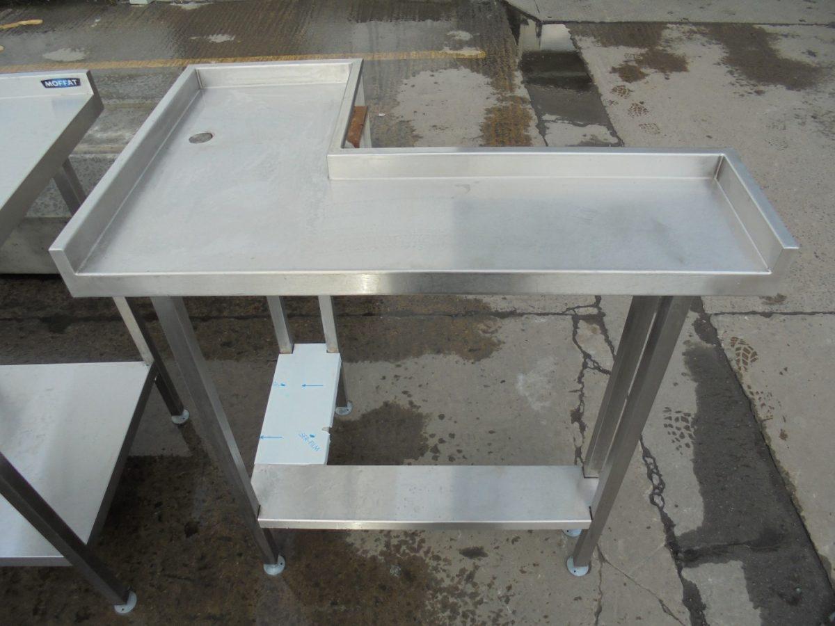 Used Stainless Steel Corner Table Work Bench Restaurant