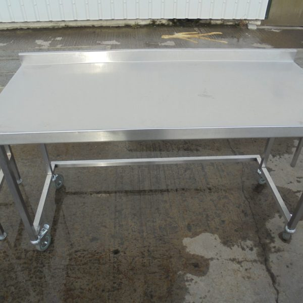 Used Stainless Steel Table Work Bench Food Restaurant