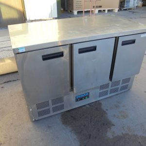 Used Polar G622 3 Door Bench Fridge | Prep Fridge Kitchen Restaurant Counter Fridge