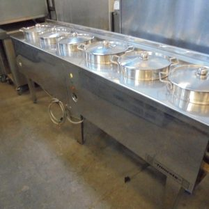 Used Stainless Steel 6 Pot Wet Bain Marie Warmer| Display Warranty Chinese Heated Electric