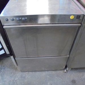 Used Stainless Steel Halcyon 51BT Under Counter Front Loading Dishwasher 59cmW x 62cmD x 82cmH