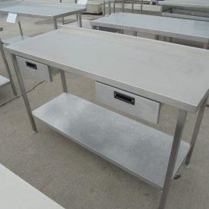 Used Moffat Stainless Steel Table   Work Bench Prep Kitchen Food Restaurant 150cmW x 60cmD x 90cmH
