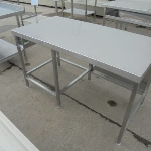 Used Stainless Steel Table   Work Bench Prep Kitchen Food Restaurant 140cmW x 70cmD x 82cmH