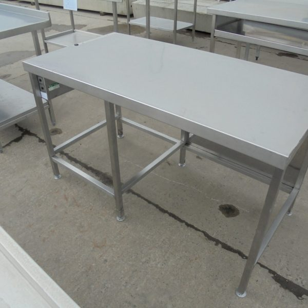 Used Stainless Steel Table Work Bench Prep Kitchen Food