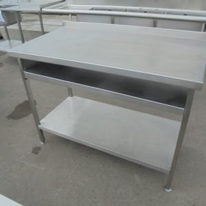 Used Stainless Steel Table   Work Bench Prep Kitchen Food Restaurant 120cmW x 65cmD x 89cmH