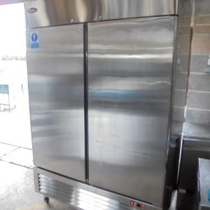 Used Atosa MBL8960 Stainless Steel Double Upright Fridge Chiller | Kitchen Restaurant Prep