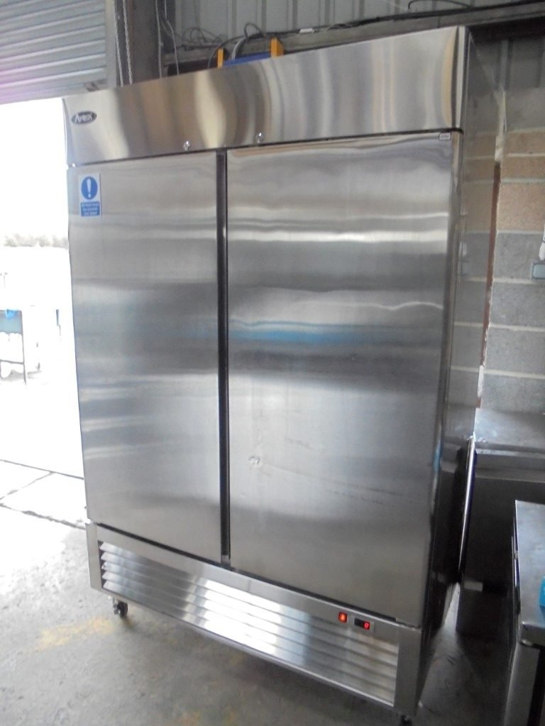 Used Atosa Mbl8960 Stainless Steel Double Upright Fridge