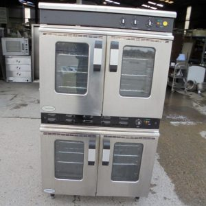 Used Moordwood Vulcan MC2T 90GCO Stainless Steel Double Oven   Electric Gas Catering Convection 90cmW x 71cmD x 165cmH