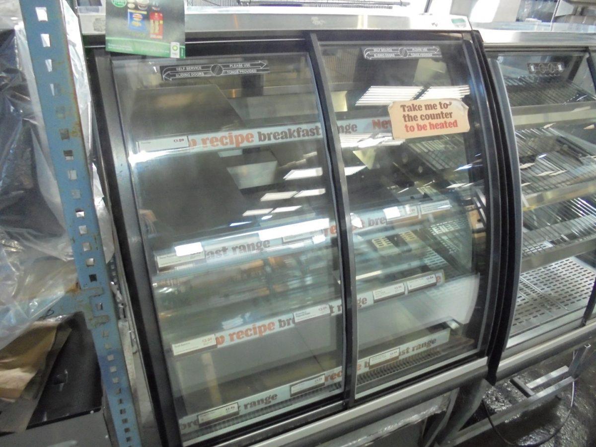 Used FPG ILC BP UK 800 Freestanding Chilled Display| Chiller Fridge Serve Glass Pie Cabinet Cold