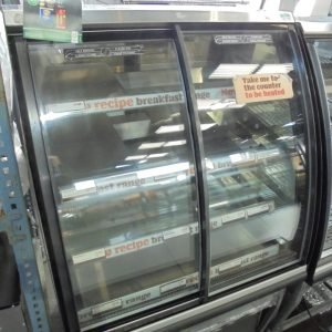 Used FPG ILC BP UK 800 Freestanding Chilled Display| Chiller Fridge Serve Glass Pie Cabinet Cold