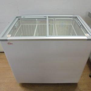 New B Grade Valera KDF 290 SGFF Chest Ice Cream Freezer   Display Glass 96cmW x 63cmD x 87cmH