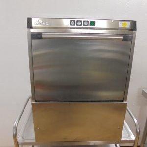 Used Jemi GS-16 Front Loader Glass Washer  Pump Drain Glass Pint Tray Wash Bar Pub 58cmW x 65cmD x 79cmH