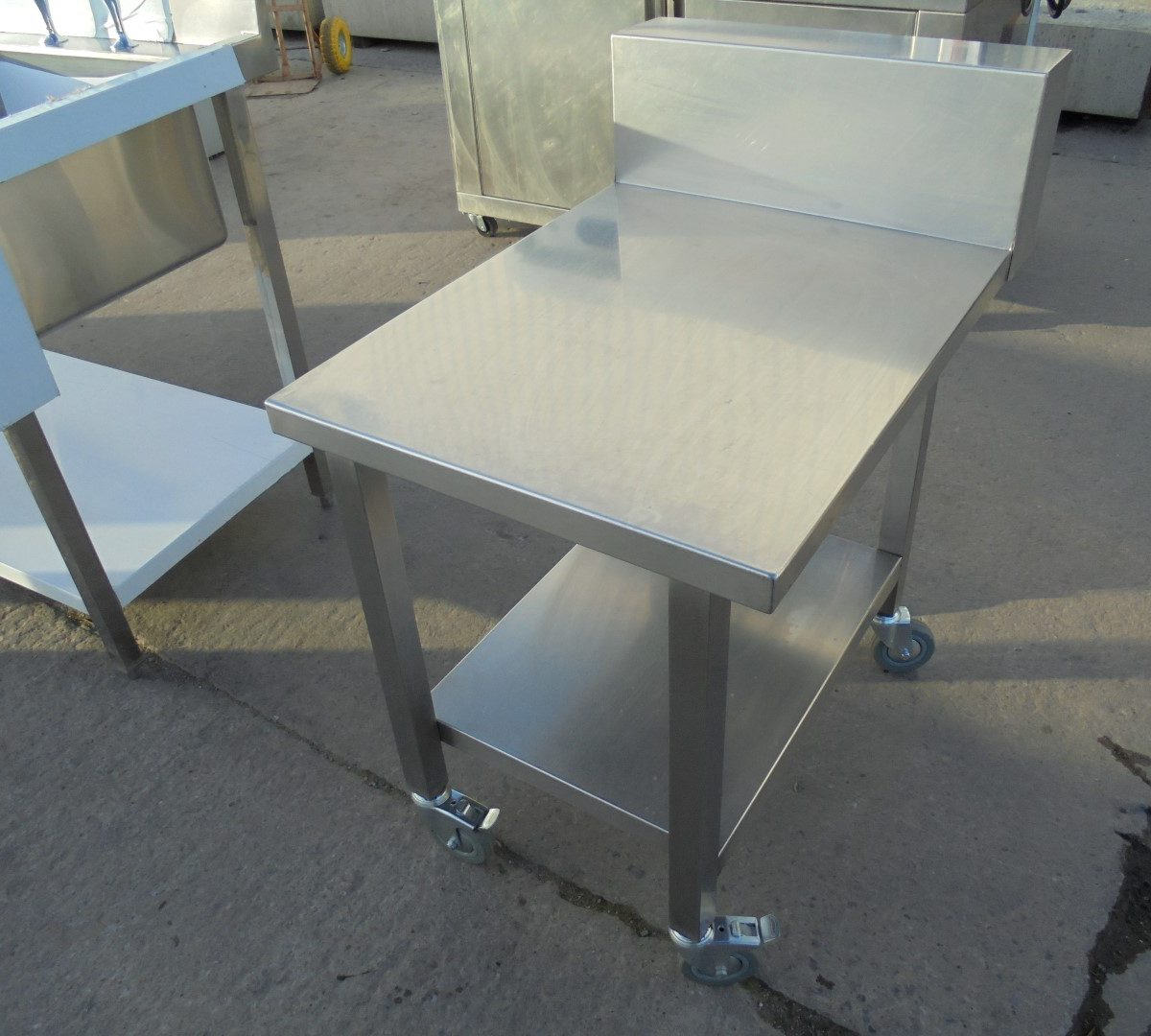 used stainless steel table stand 55cmw x 80cmd x 71cmh. Black Bedroom Furniture Sets. Home Design Ideas