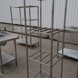 Used   Stainless Steel Freestanding 4 Tier Shelf For Sale