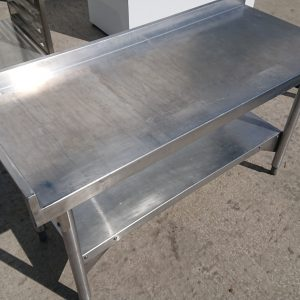 Used   Stainless Steel Low Table Stand 120cmW x 50cmD x 67cmH