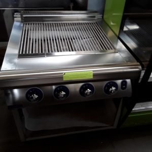 New B Grade Bonnet Hobart B1A9BB8PG-10 Stainless Steel Freestanding 4 Burner Lava Char Grill For Sale