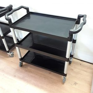 New B Grade   Black 3 Tier Restaurant Trolley For Sale