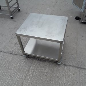 Used   Stainless Steel Table Oven Dishwasher Stand 61cmW x 53cmD x 58cmH