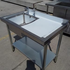 New B Grade Vogue  Stainless Steel Single Bowl Sink Drainer Shelf For Sale