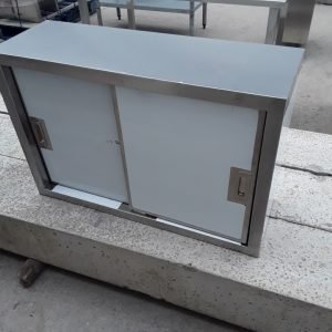 New B Grade Vogue  Stainless Steel Double 2 Door Wall Cabinet For Sale
