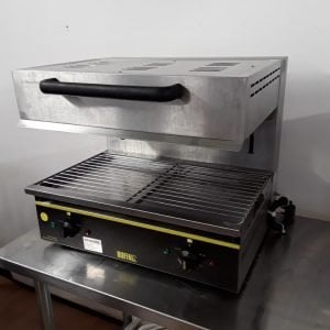 Used Buffalo CD679 Stainless Steel Large Salamander Grill For Sale