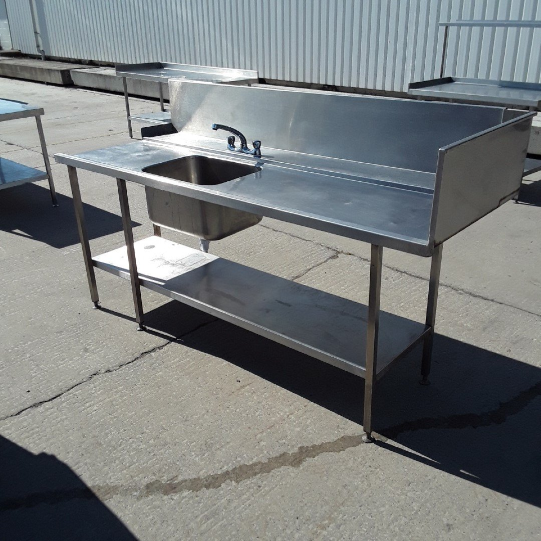 Used   Stainless Steel Dishwasher Single Bowl Sink Drainer For Sale