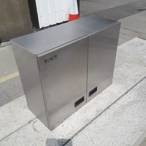 Used Lincat  Stainless Steel Double 2 Door Wall Cabinet 75cmW x 30cmD x 60cmH