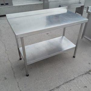Used   Stainless Steel Table Shelf 120cmW x 60cmD x 86cmH