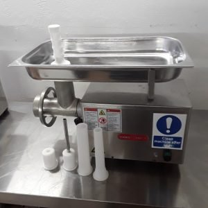 Used Tor Rey M12 FS Stainless Steel Table Top Butcher  Meat Mincer Grinder Large 58cmW x 32cmD x 43cmH