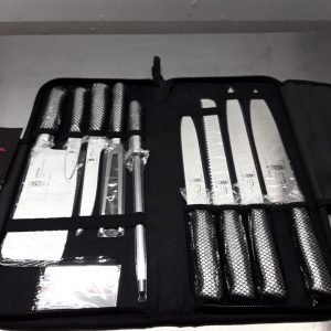 New Samurai  Stainless Steel Professional Chef Knife Set Case For Sale