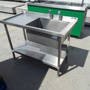 Used Moffat  Stainless Steel Single Bowl Sink Drainer Shelf For Sale