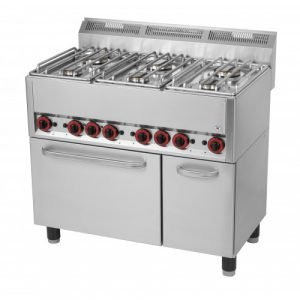 New RM Gastro SPT90GL 6 Ring Gas Powered Hobs With Electric Convection Oven For Sale