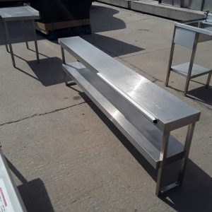 Used   Stainless Steel Double Non Heated Gantry Shelf For Sale