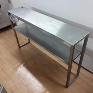 Used   Stainless Steel Double Heated Hot Light Gantry Shelf For Sale