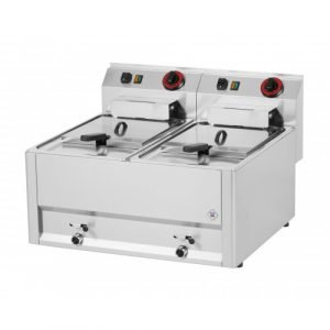 New RM Gastro FE60EL Twin Tank Electric Table Top Fryer For Sale