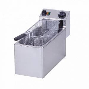 New Rm Gastro FE08 Electric Single Tank Table Top Fryer For Sale