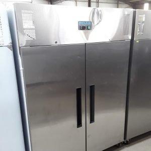 Used Polar G594 Stainless Steel Double 2 Door Fridge Chiller For Sale