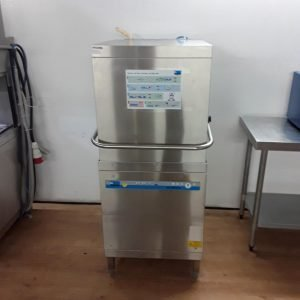 Used Meiko DV 80. 2 Stainless Steel Pass Through Hood Dishwasher For Sale