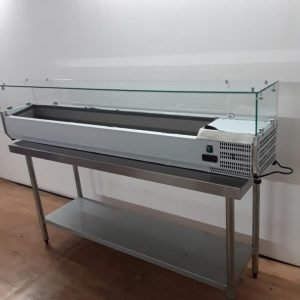 New B Grade  1LD-B-TW4G200 Stainless Steel Pizza Salad Display Chiller For Sale