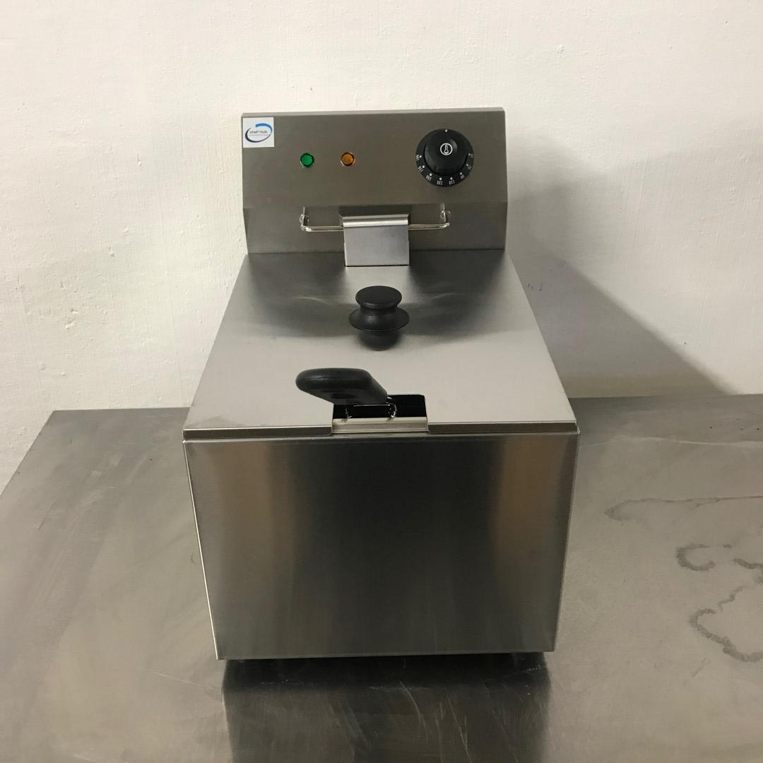 New Chef Hub EF-8L Stainless Steel Table Top Single Fryer For Sale