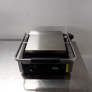 Used Buffalo DM903 Stainless Steel Contact Panini Grill For Sale