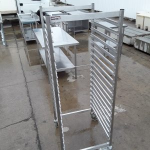 Used Hupfer  Stainless Steel Double Gastro Trolley For Sale